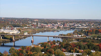 photo taken from the air of bangor maine