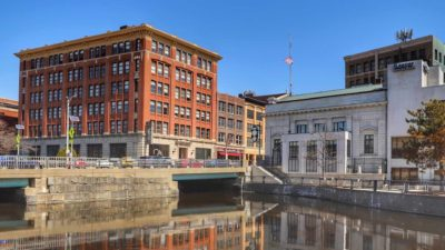 photo of the 6 state street building in downtown bangor maine